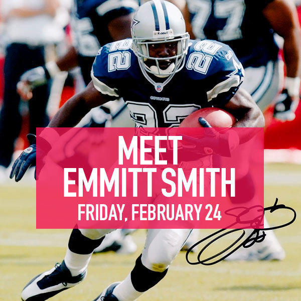 Meet Emmitt Smith on Friday, February 24 image