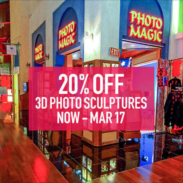20% Off 3D Photo Sculptures Now – Mar 17 image